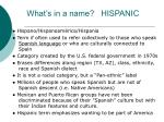 what s in a name hispanic