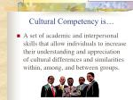 cultural competency is
