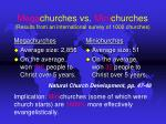 mega churches vs mini churches results from an international survey of 1000 churches