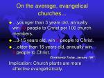 on the average evangelical churches