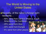the world is moving to the united states8
