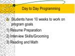 day to day programming