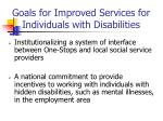goals for improved services for individuals with disabilities