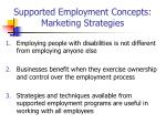 supported employment concepts marketing strategies