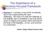 the importance of a recovery focused framework