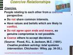 coercive relationships