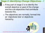 stage 2 identifying change objectives 1