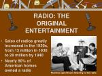 radio the original entertainment