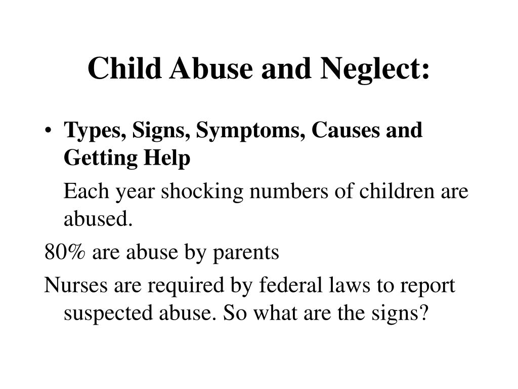 types of child abuse and neglect in the united states Mandatory reporting legislation in the united states  prevention of child abuse and neglect recently  the law will define the types of abuse and neglect.