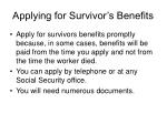 applying for survivor s benefits