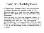 basic ssi disability rules