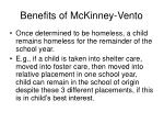 benefits of mckinney vento39