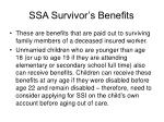 ssa survivor s benefits