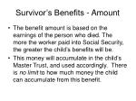 survivor s benefits amount