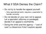 what if ssa denies the claim31