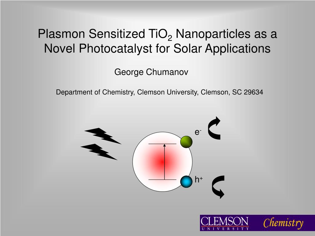 plasmon sensitized tio 2 nanoparticles as a novel photocatalyst for solar applications l.
