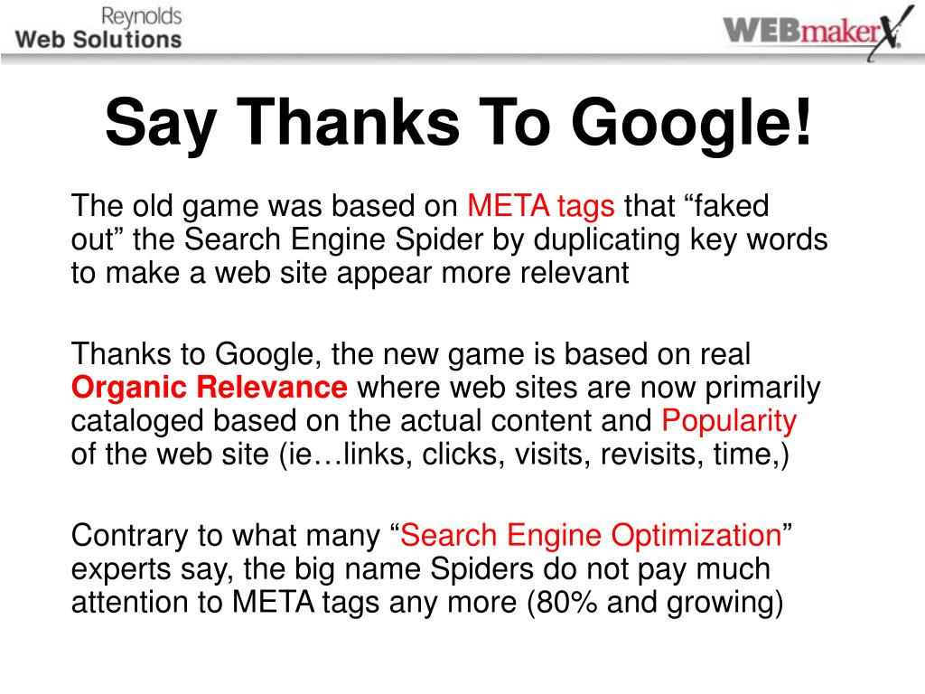 Say Thanks To Google!