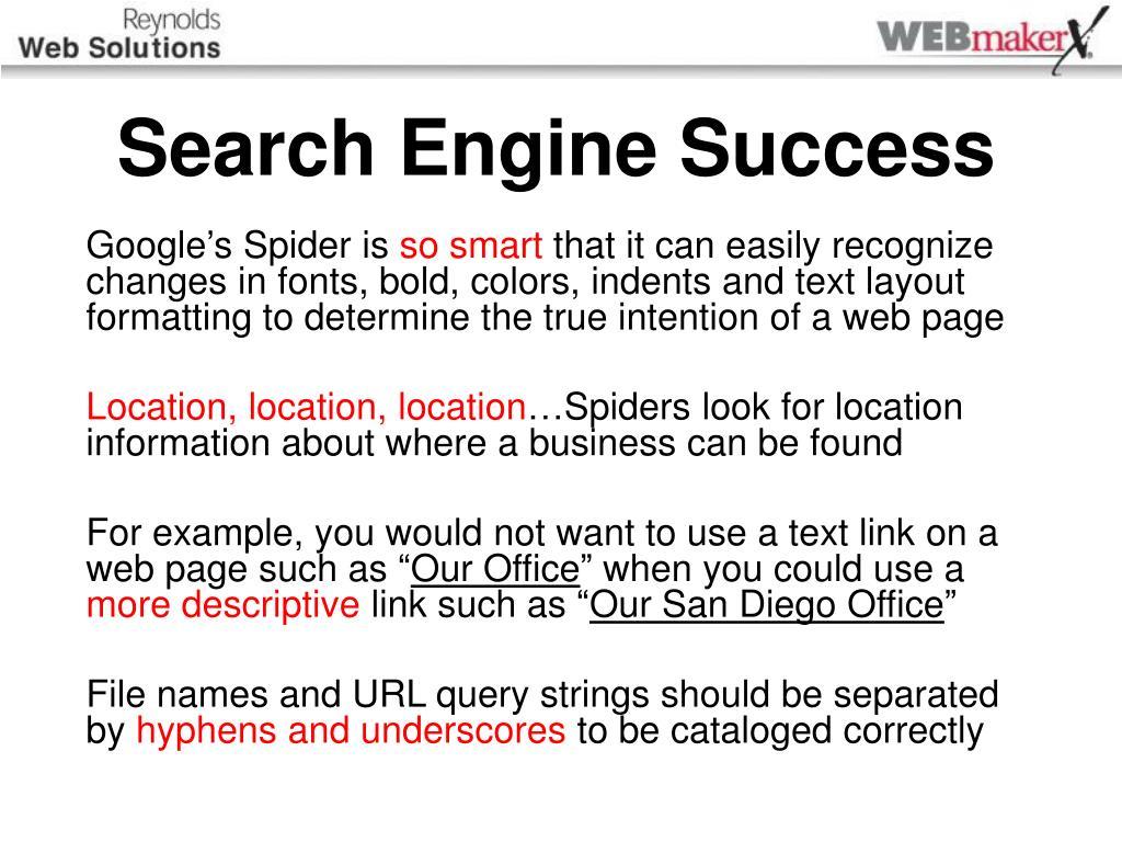 Search Engine Success