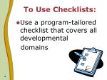 to use checklists14