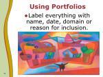 using portfolios