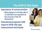 the hcw vital signs
