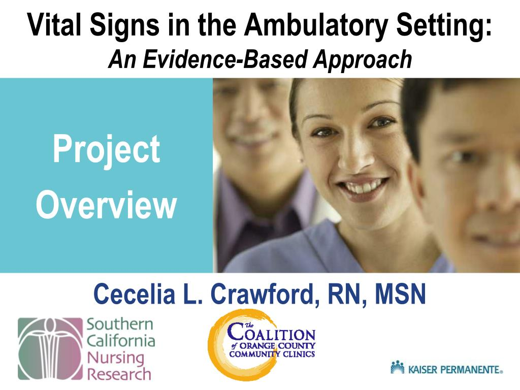 vital signs in the ambulatory setting an evidence based approach l.