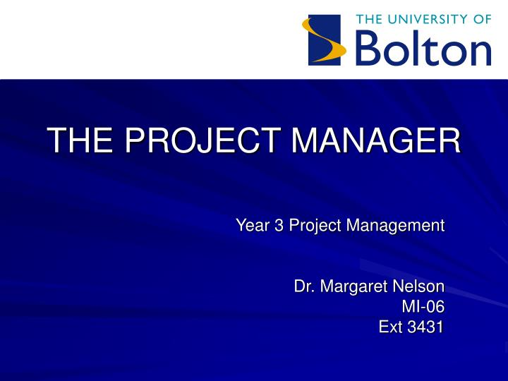 the project manager n.