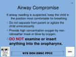 airway compromise31