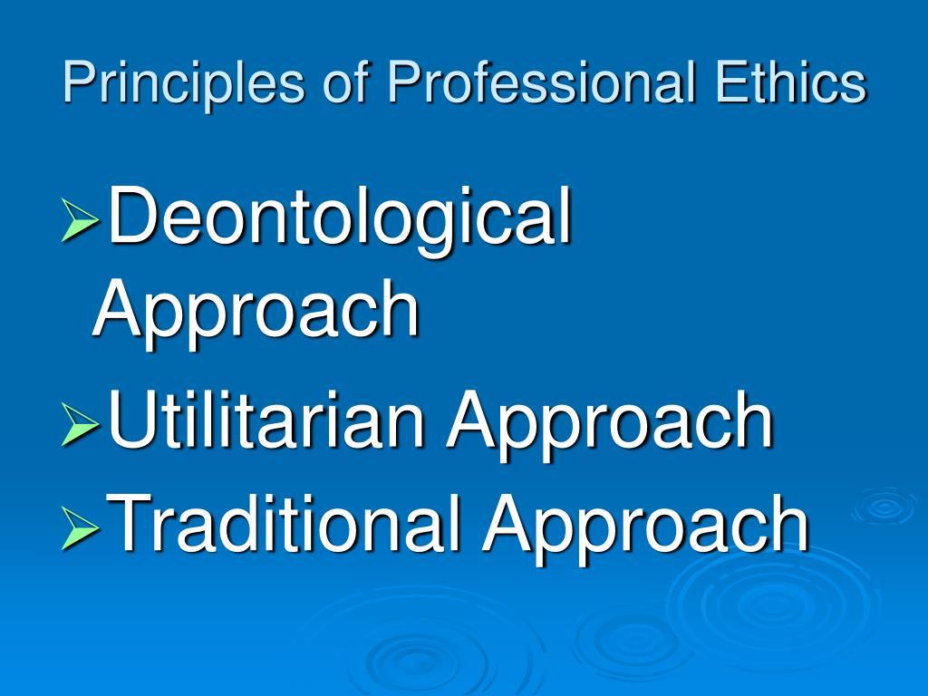 Principles of Professional Ethics