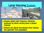 lahar warning system