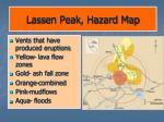 lassen peak hazard map