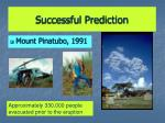 successful prediction