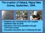 the eruption of rabaul papua new guinea september 1994