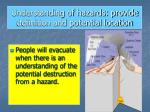 understanding of hazards provide definition and potential location
