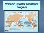 volcanic disaster assistance program