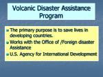 volcanic disaster assistance program43