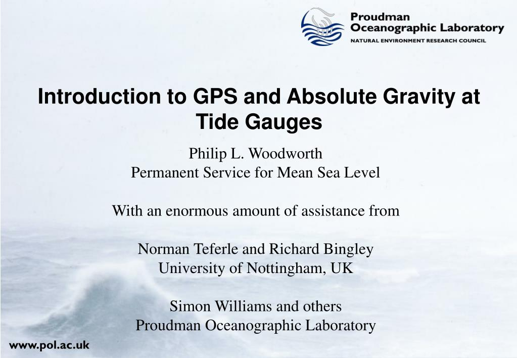 introduction to gps and absolute gravity at tide gauges l.