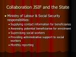 collaboration jsif and the state
