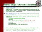 florida bright futures scholarships