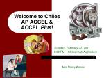 welcome to chiles ap accel accel plus