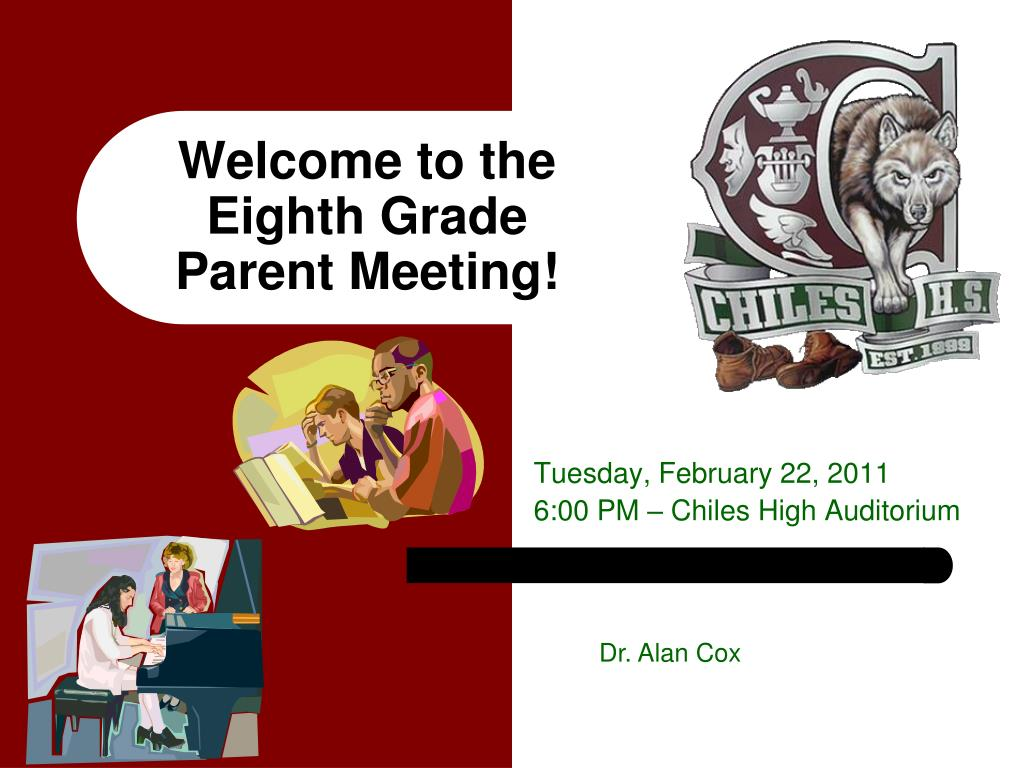 welcome to the eighth grade parent meeting l.
