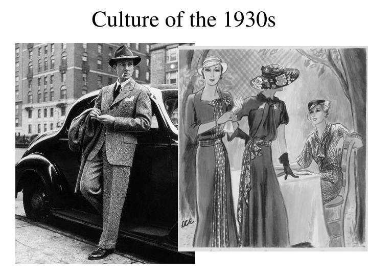 culture of the 1930s n.