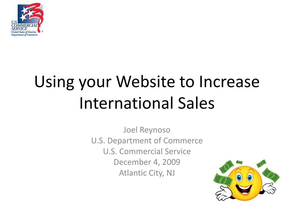 using your website to increase international sales l.