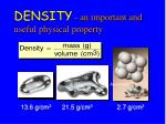 density an important and useful physical property