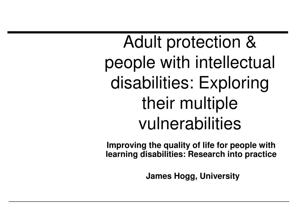 adult protection people with intellectual disabilities exploring their multiple vulnerabilities l.