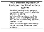 what proportion of people with intellectual disabilities have been abused