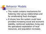 behavior models22