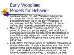 early woodland models for behavior