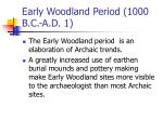 early woodland period 1000 b c a d 1