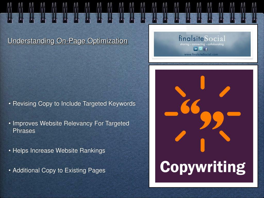 Understanding On-Page Optimization